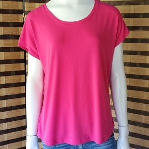 Chico's hot pink cap sleeve stretch top